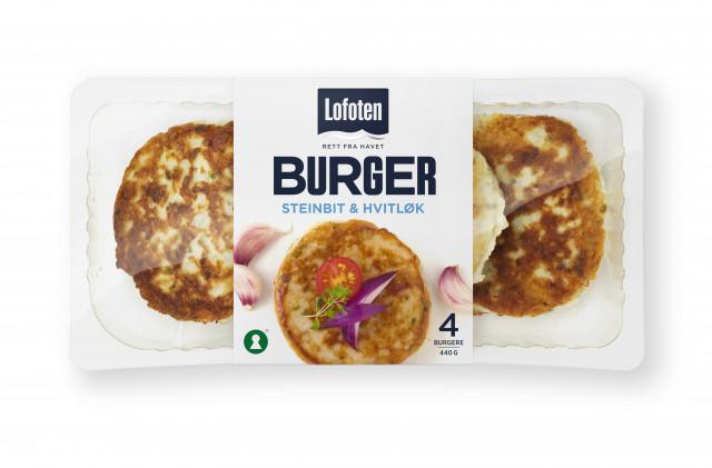 Lofoten Fiskeburger med smak av steinbit og hvitløk
