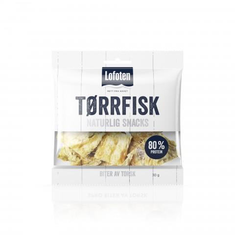 Lofoten Tørrfisk naturlig snacks 30g