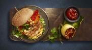Grillburger mild bbq på grillen