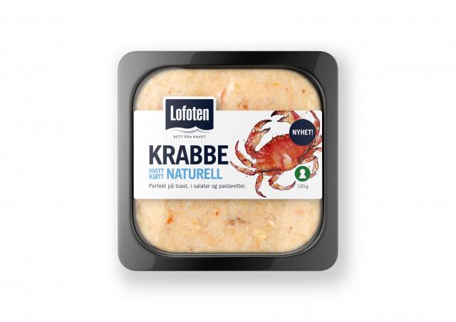 Hvitt krabbekjøtt naturell