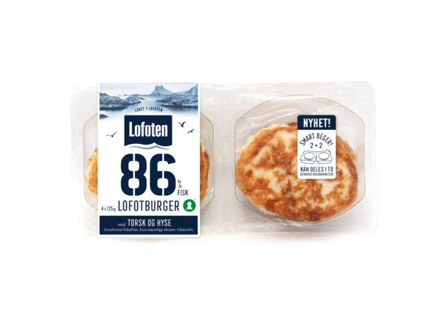 86% Lofotburger med torsk og hyse