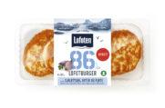 86 % Lofotburger med sjalottløk, urter og fløte