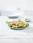 Fylt torsk med rykende varm risotto