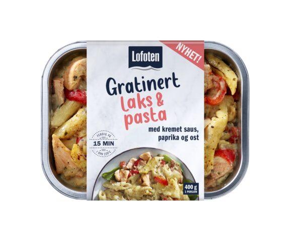 Lofoten Gratinert laks & pasta